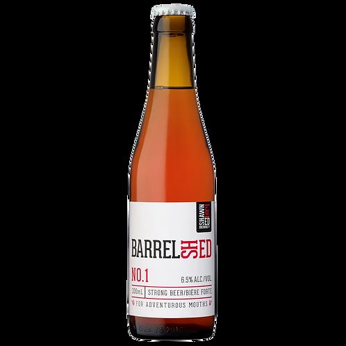 BarrelShed Amber 330 mL Vintage Glass Bottles