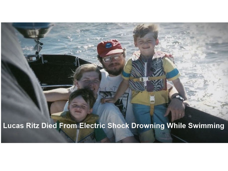 An eight-year-old boy named Lucas Ritz was electrocuted while swimming
