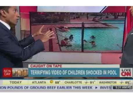 Three Florida children severely injured after their pool's water became electrified.