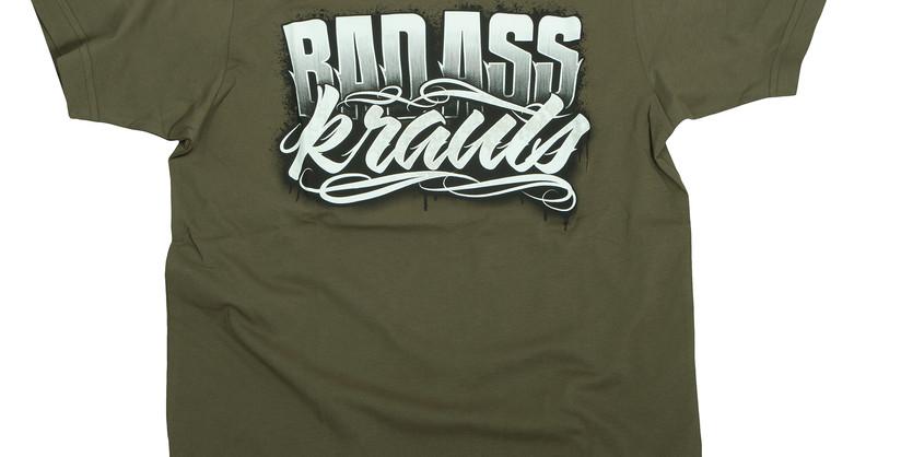 T-Shirt Badasskrauts Oliv