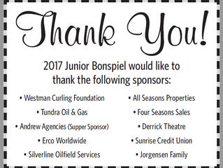 The Junior Bonspiel thanks it's supporters!