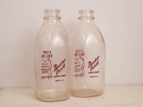 Pr. Glass Milk Jugs