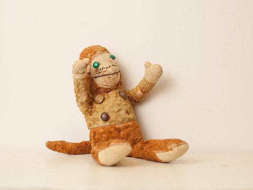 Early Straw Stuffed Monkey