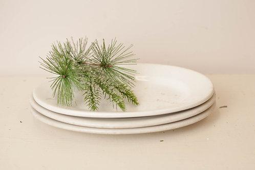 Set of 3 Ironstone Platters-Medium
