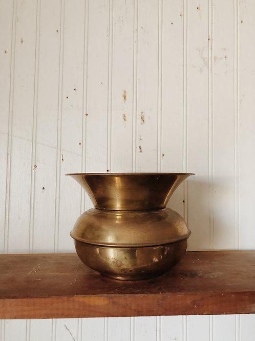 Small Vintage Brass Spittoon