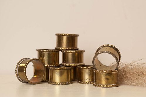 Set of 3 Brass Napkin Holders