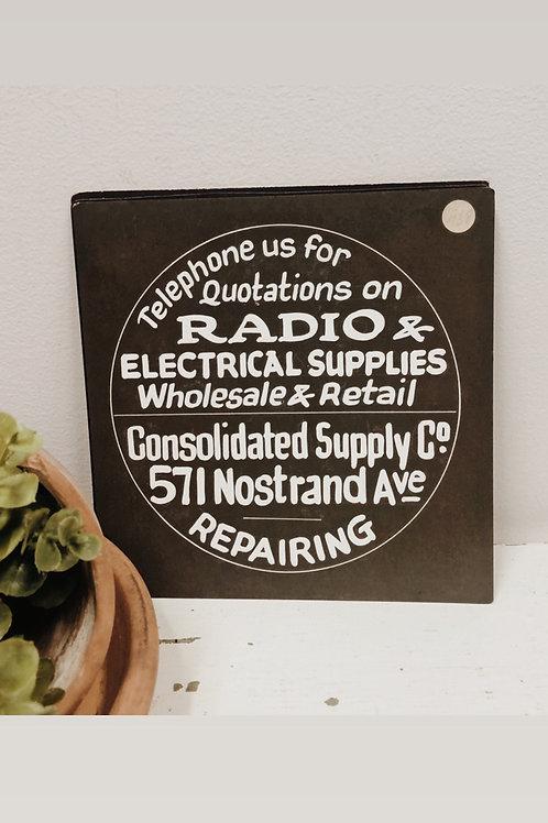 Salesman Sample Sign