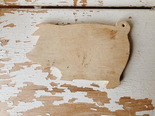 Vtg. Pig Cutting Board