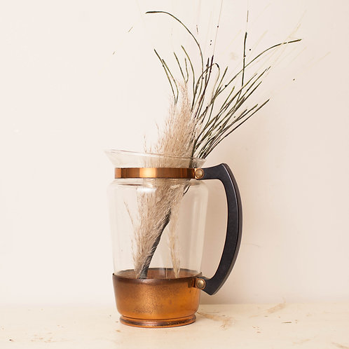Glass Pitcher with Copper