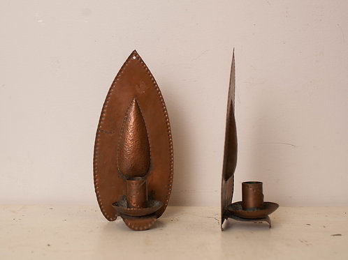Pair of Copper Candle Holders