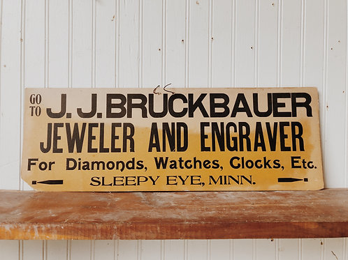 Jeweler and Engraver Sign