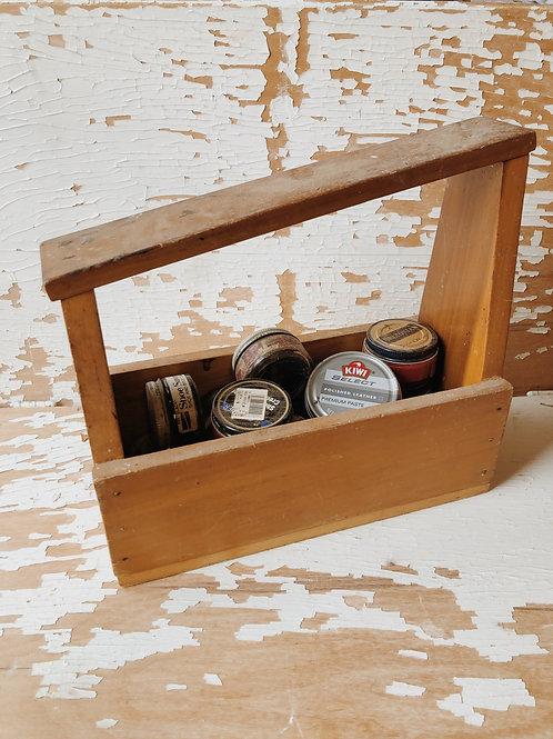 Wood Shoe Shine Box