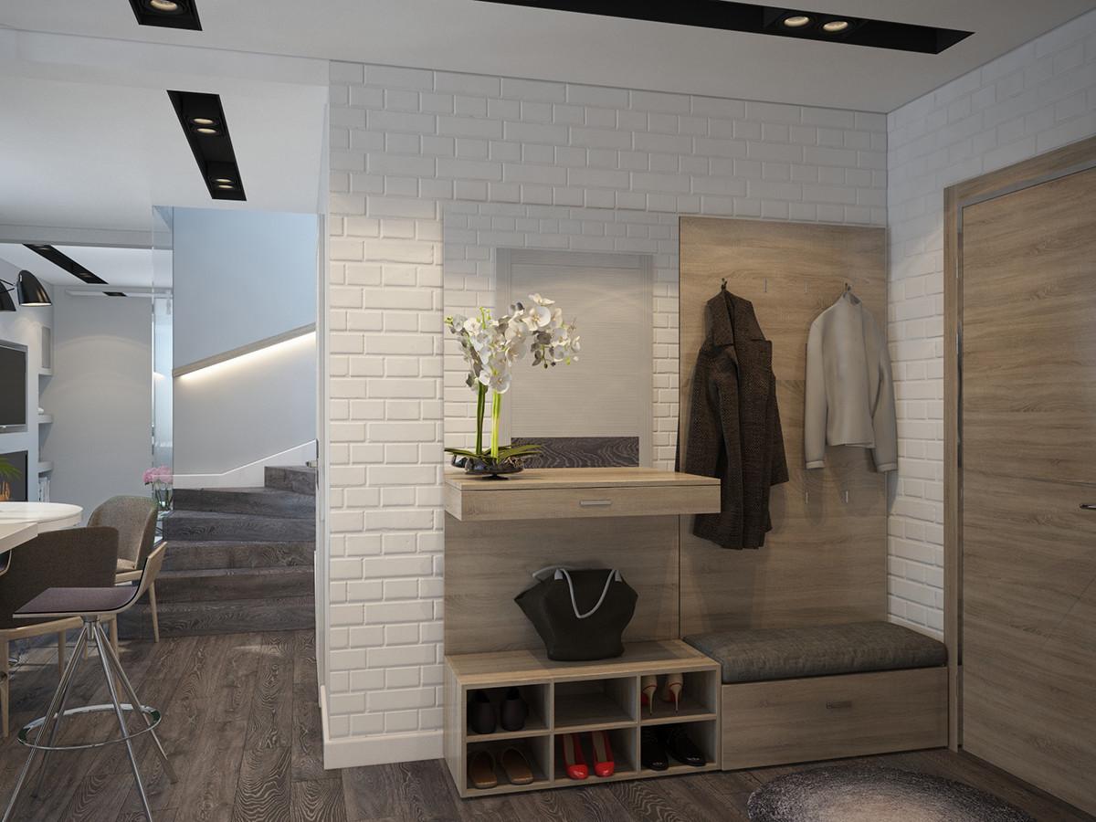 Spacious white studio