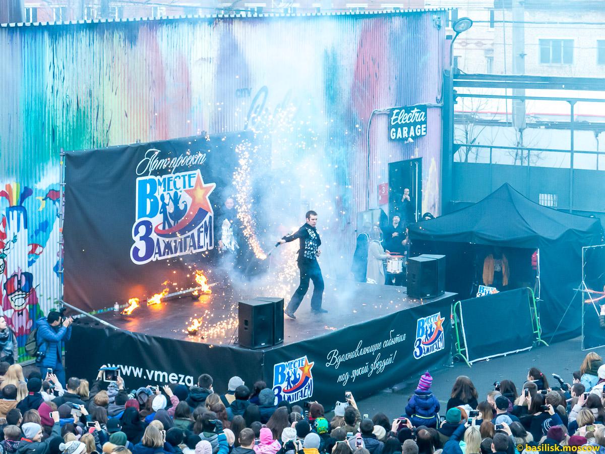 Огненное шоу в Москве FireFox
