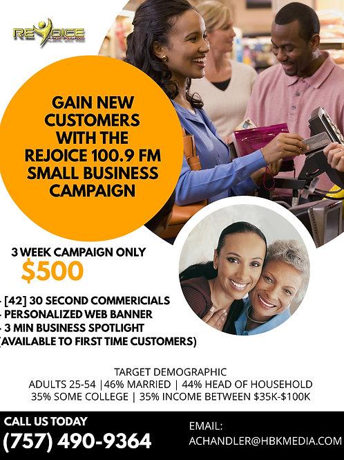 Rejoice 100.9 FM Small Business
