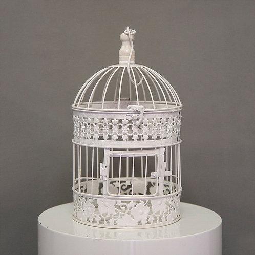 White Vintage Bird Cage