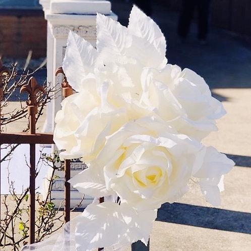 Large White Rose Centrepiece