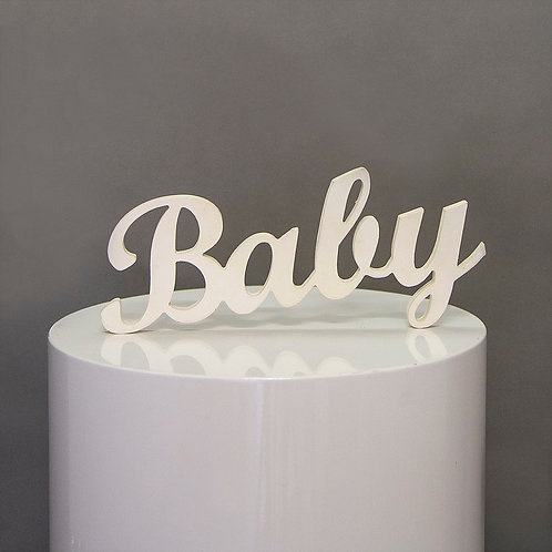 Baby - wooden table sign