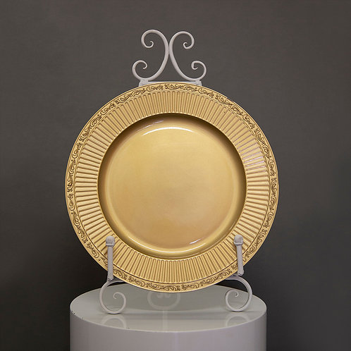 Gold Acrylic Circle Charger Plates