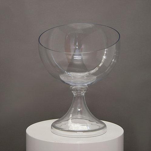 Large Glass Dessert Bowl