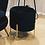Thumbnail: Black Velvet Footstool Ottoman