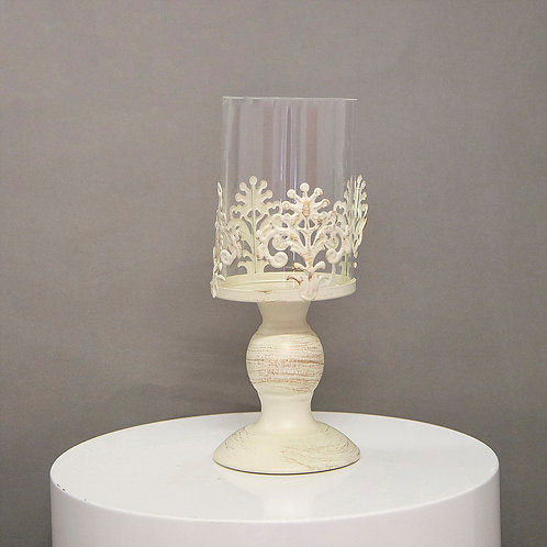 White Vintage Candle Holder