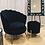 Thumbnail: Black Velvet Scallop Chair