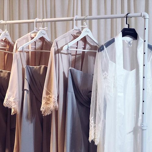 Long White Dress Rack
