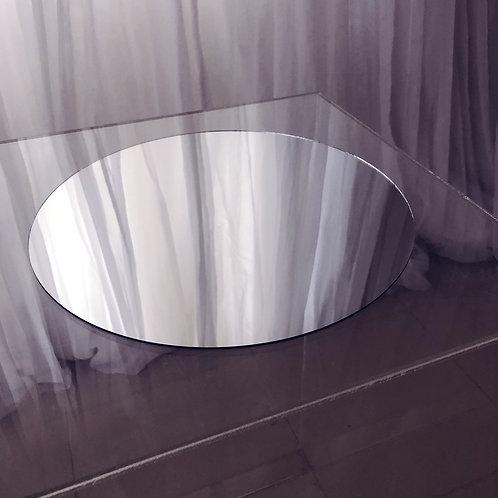 Round Mirror Base Table Centrepiece