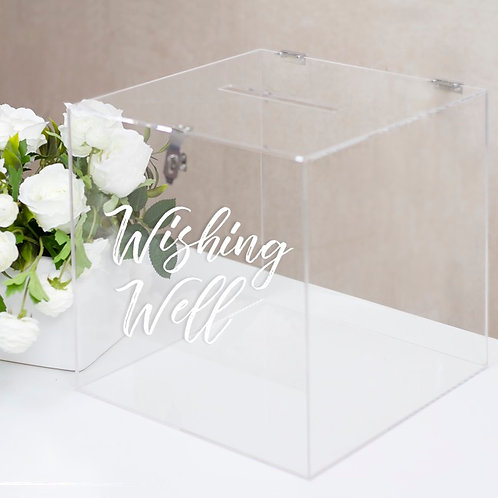 Acrylic Clear Wishing Well