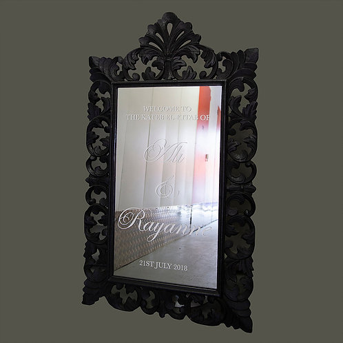 Black Vintage Mirror and Easel