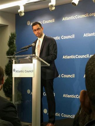 Presenter at the Atlantic Council