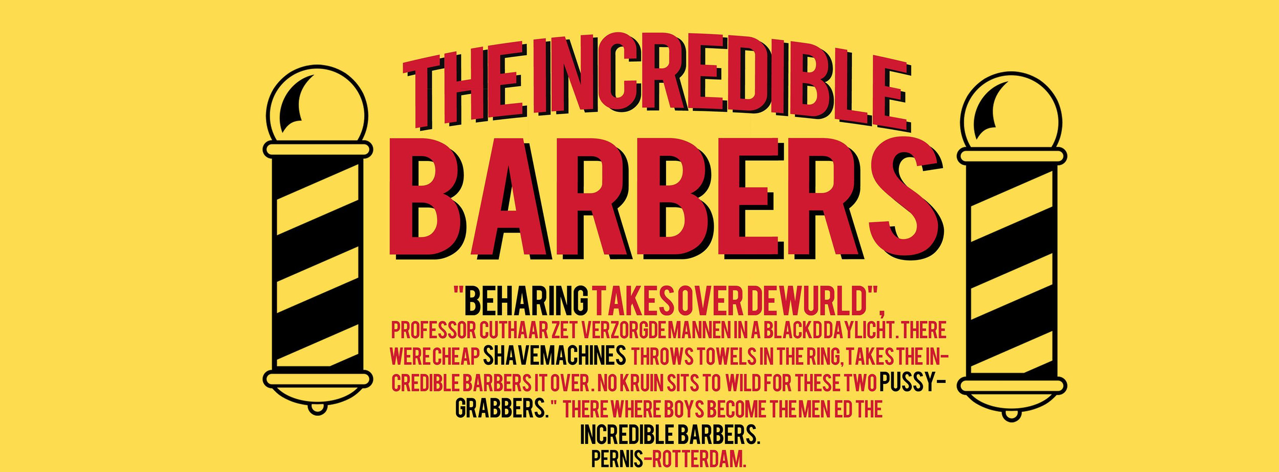 Barbershop | Rotterdam | The Incredible Barbers