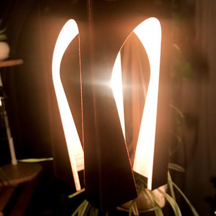 WALNUT ORANGE LAMP