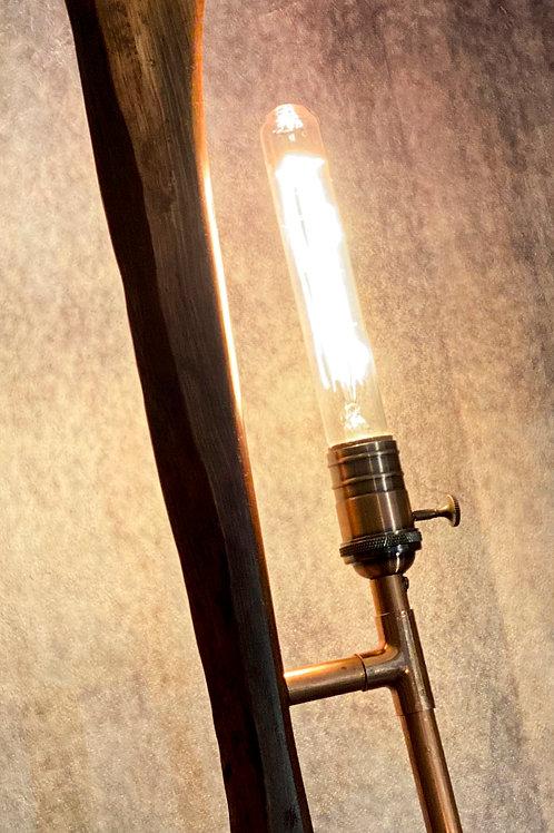Live edge floor lamp