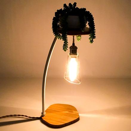 BAMBOO PLANT LAMP
