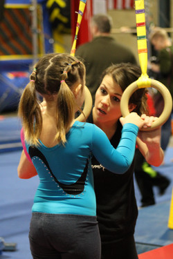 Coach and Gymnast