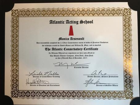 I graduated from The Atlantic!
