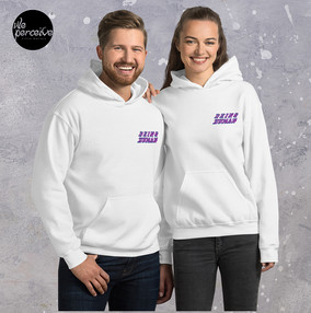 white couple hoodie