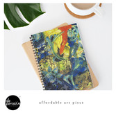 Collage painting art print - In the BLUE Spiral Notebook