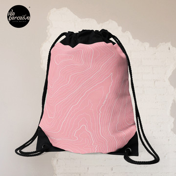 Psychology Things SPECIAL PINK Edition - Maslow's HIERARCHY of NEEDS Drawstring Bag