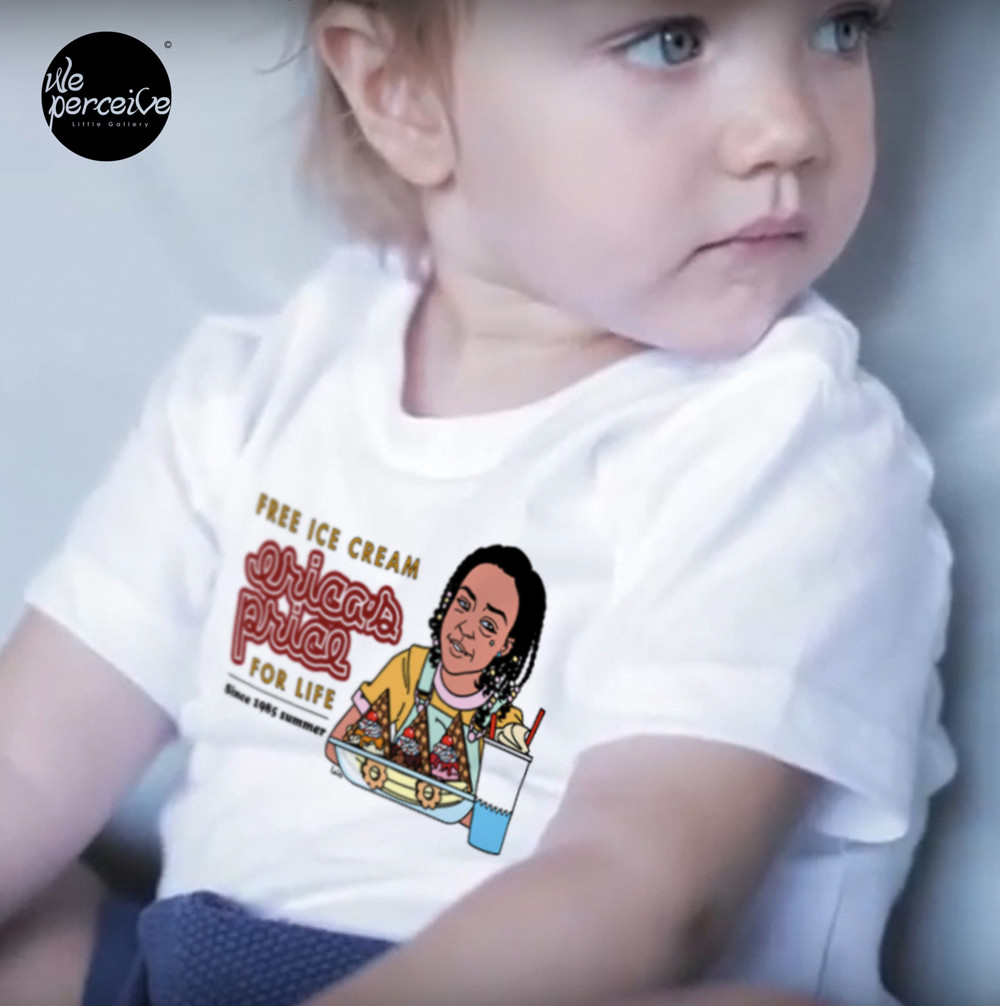 Erica Sinclair FREE ICE CREAM FOR LIFE Toddler Short Sleeve T-shirt for every ADORABLE KIDS