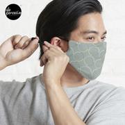 Minimal Circle Pattern in Charcoal Mask