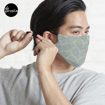 Minimal Circle Pattern in Charcoal Mask