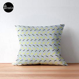 Black yellow grey geometric pattern floo