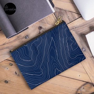 Psychology things - Maslow's HIERARCHY of NEEDS - Dark Blue Zipper Pouch