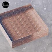 Minimal Circle Pattern in Mocha Acrylic Block