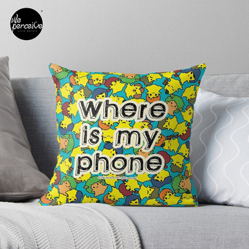 Welcome to SOCIAL MEDIA ERA - Where is my PHONE? Throw Pillow