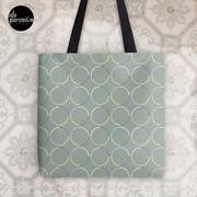 Minimal Circle Pattern in Charcoal Tote Bag