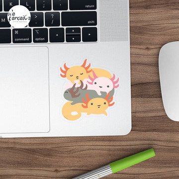 AXOLOTL WAVE - We are the CUTEST CREATURE in the Water World Sticker
